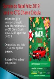 SORTEIO NATAL FELIZ 2019