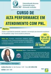 CURSO DE ALTA PERFORMANCE EM ATENDIMENTO COM PNL