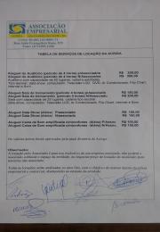 TABELA DE SERVIÇOS DE LOCAÇÃO DA  ACISGA