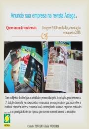 Anuncie su empresa na revista Acisga